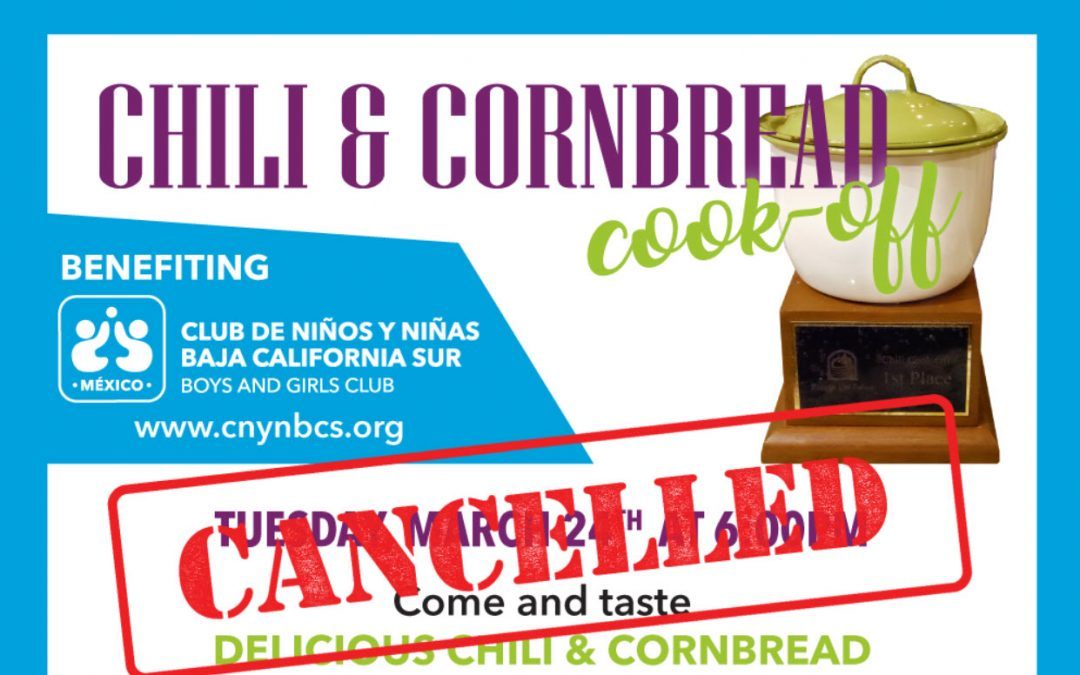 COVID-19 Update: Chili Cook-Off Cancelled